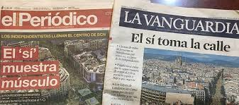 Challenge La Vanguardia Amid Calls For Independence Catalonians For A Unified Spain