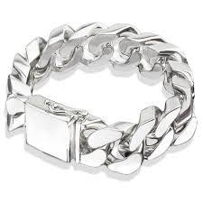 sterling bracelet images Heavy sterling silver cuban link bracelet jpg&a