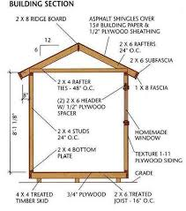 How To Build A Pole Barn Building by 8 12 Storage Shed Plans U0026 Blueprints For Building A Spacious Gable