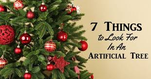 7 things to look for in an artificial tree