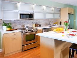glass countertops in stock kitchen cabinets lighting flooring sink