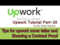 tips for upwork cover letter upwork tutorial part 20 youtube