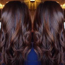 chocolate hair with platinum highlight pictures long curled chocolate brown hair with cinnamon highlights brown