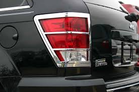 jeep chrome jeep grand cherokee chrome tail light bezel trim covers