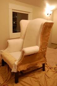How To Make A Wing Chair Slipcover Slipcovered Wingback Chair Foter