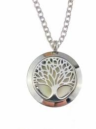 essential oil diffuser necklace stainless steel tree of life