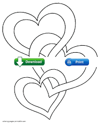 coloring pages hearts roses download heart valentines