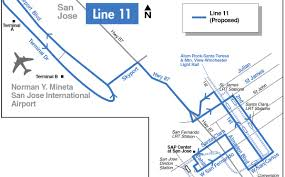 san jose light rail map vta proposing two year plan with overall increase in service