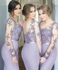 lavender bridesmaids dresses 2017 lavender bridesmaid dress sleeve lace mermaid