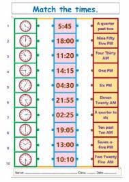 english exercises telling the time 6 exercises