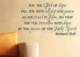 wall art vinyl romans 15 13 god of hope scripture bible verse zoom