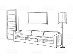 unique interior design sketches living room drawing inside decor