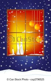clipart vector of christmas card with candles classic christmas