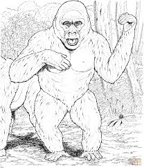 coloring page of gorilla gorilla under the tree coloring page for gorilla coloring pages