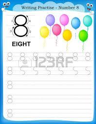 writing practice number six printable worksheet for preschool