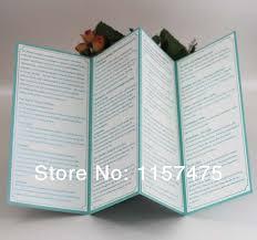 wedding program book hi9004 customized 4 folded wedding programs order of service with