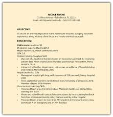 Resume Job History Format by