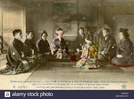marriage caption japanese marriage ceremony in the late meiji era 1868 1912