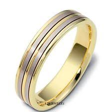 Mens Wedding Ring by Mens Two Tone Wedding Band Ebay