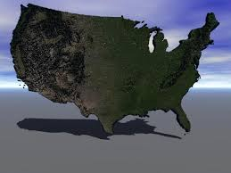 us relief map us relief map 3d model sharecg