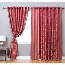 Curtains 90 Width 72 Drop Aurora Home Wide Width Damask Jacquard Grommet 84 Inch Curtain