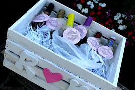 bridal shower wine basket daniellesque bridal shower gift basket of firsts