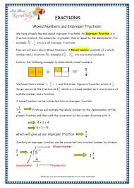 grade 4 maths resources 2 3 mixed numbers and improper fractions