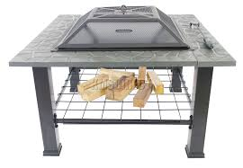 table top patio heater foxhunter garden steel fire pit firepit brazier square patio