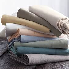 comfort wash solid linen sheets the company store