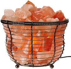 himalayan glow ionic crystal salt basket l amazon com himalayan glow natural salt l tall round basket 8in