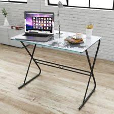 Modern Computer Desk Modern Glass Computer Desk Ebay