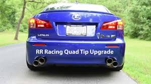 lexus vehicles youtube rr racing exhaust systems for lexus is f youtube