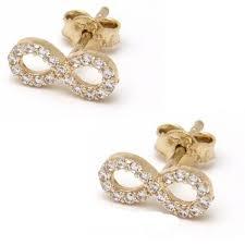 cercei de aur bijuterii aur cercei aur galben 14k cu model infinit pietricele