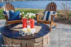 Patio Table With Built In Fire Pit - diy fire pit table top the lilypad cottage