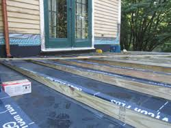 rebuilding a rotted deck on a flat roof extreme how to