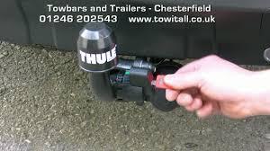 towbar video peugeot 4007 thule brink detachable youtube