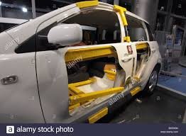 ncap car safety cage cell chassis crash test dummy stock photo