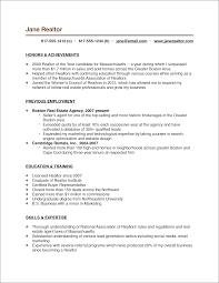 Self Employed Resume Samples by The Real Estate Agent Resume Examples U0026 Tips Placester