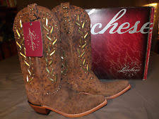 womens studded boots size 11 lucchese m5717 womens 11 b studded boots no reserve ebay