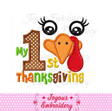 instant my 1st thanksgiving with turkey applique