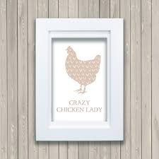 crazy chicken lady framed print