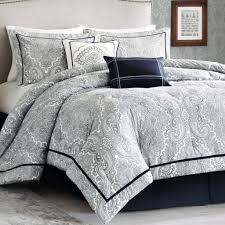 Black Comforter Sets King Size Bedroom White And Black Bedspread Black And White Comforter