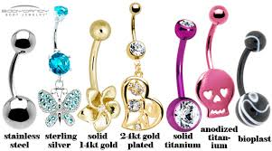 belly rings titanium images Crash course navel ring styles materials and sizing bodycandy jpg