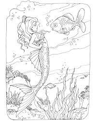 mermaid colouring pages pdf barbie coloring unique cute