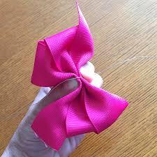 hair bow ribbon offray pinwheel hair bow