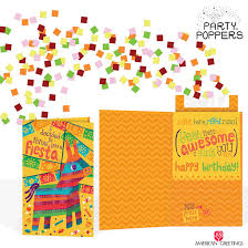 news american greetings send a party in a card with new party