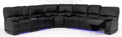Sectional Sofa With Recliner Electra Power Reclining Sectional With Led Lights
