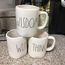 rae dunn ll mugs wisdom wish think mercari buy u0026 sell things