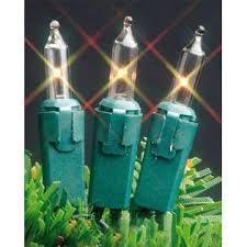 everstar set of 35 clear mini lights with green wire