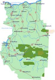 oregon map with cities central oregon map go northwest a travel guide